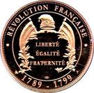 Token - Révolution Française (Robespierre) – reverse