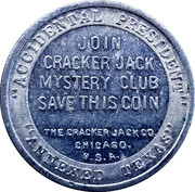 Token - Cracker Jack Mystery Club (10th President John Tyler) – reverse