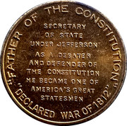 Token - James Madison – reverse