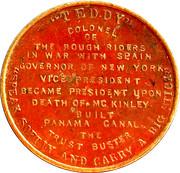 Token - Theodore Roosevelt (Teddy) – reverse