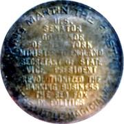 Token - Martin Van Buren (King Martin The First) – reverse