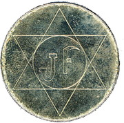 Jeton JF – obverse