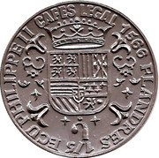 Token - Cafes Legal (1/5 Ecu Philippe II Flandres 1566) – obverse