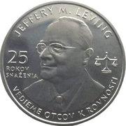 Token - Jeffery M. Leving (25 years) – reverse