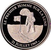 Le premier homme sur la Lune  - 21 Juillet 1969 – obverse