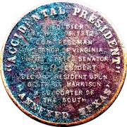 Token - John Tyler (Accidental President) – reverse