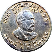 Token - James A. Garfield (Teacher President) – obverse