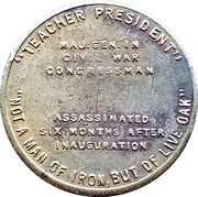 Token - James A. Garfield (Teacher President) – reverse