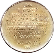 Token - Presidential Hall of Fame (John F. Kennedy) – reverse