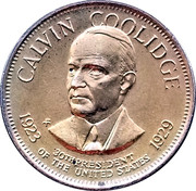 Token - Presidential Hall of Fame (Calvin Coolidge) – obverse