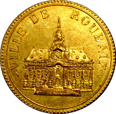 Ville de roubaix tokens numista for Piscine de roubaix