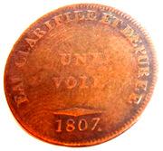 """Jeton """"Eau Clarifiee  et Depuree"""" (Une Voie)- Cuchet et Comp. 1807 – obverse"""