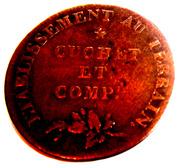 """Jeton """"Eau Clarifiee  et Depuree"""" (Une Voie)- Cuchet et Comp. 1807 – reverse"""