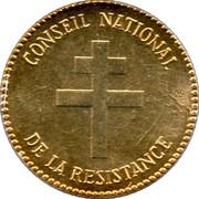 Medal - Jean Moulin – reverse