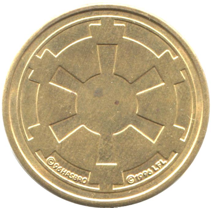 Star Wars 1000 Galactic Credit Imperial Coin Token 1996 Hasbro