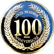 Token - Louis Pasteur (100th Anniversary) – reverse
