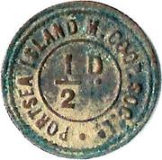 ½ Penny - Portsea Island Mutual Co-op – reverse