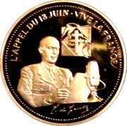 Société Française des monnaies - L'appel du 18 juin- Vive la France – obverse