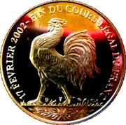 Token - End of the legal tender of the Franc -  obverse