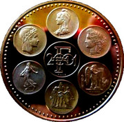 Token - End of the legal tender of the Franc -  reverse