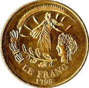 Le Franc 1796 - L'Euro 2002 – obverse
