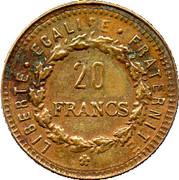 20 Francs (Génie IIe république) – reverse