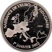 France-Essai-Naissance de l'euro fiduciaire – reverse