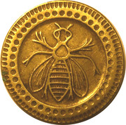 50 Centimes (Bee) – obverse