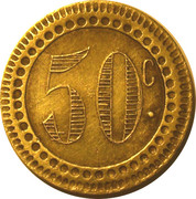 50 Centimes (Bee) – reverse