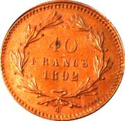 40 francs – reverse