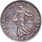Essai de 20 francs Clémenceau-Poincaré-Briand – reverse