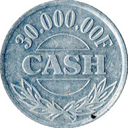 30 000,00 F Cash – obverse