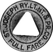 Full Fare - St. Joseph Ry. Lt. Ht.& Pr. Co. (Saint Joseph, Missouri) – obverse