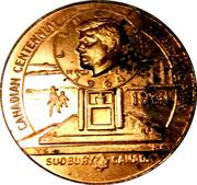 "Medallion - Sudbury ""Numismatic Park"" (Kennedy Half Dollar Memorial) – obverse"