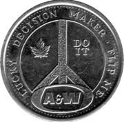 Token - Lucky decision maker (A&W) – reverse