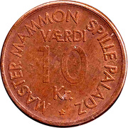 10 Kroner - Master Mammon Spille Paladz – reverse
