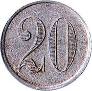 20 Centimes - Théatre Lyrique – reverse