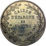 Jeton de la Caisse d'Epargne de Nantes – reverse