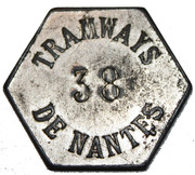 Tramways Nantais - Jeton de service – obverse