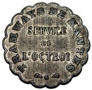 Tramways de Nantes - Service de l'Octroi [44] – obverse
