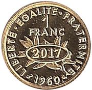 Token - 1 Franc – reverse