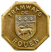 Token - Tramway de Rouen (Bon pour une section - Banlieue) – obverse