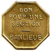 Token - Tramway de Rouen (Bon pour une section - Banlieue) – reverse