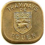 Token - Tramway de Rouen (Bon pour une section - Classe unique) – obverse