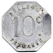 10 Centimes - Tramways à Vapeur - Bellevue Terrrasse Saint Etienne [42] – reverse