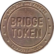 1 Passage Bridge Token - Delaware River Joint Toll Bridge Commission (without mintmark) – reverse