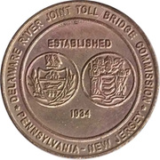 1 Passage Bridge Token - Delaware River Joint Toll Bridge Commission (without mintmark) – obverse