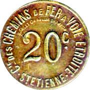 20 Centimes - Compagnie des Chemins de Fer à voie étroite - St Etienne [42] – obverse