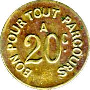 20 Centimes - Compagnie des Chemins de Fer à voie étroite - St Etienne [42] – reverse