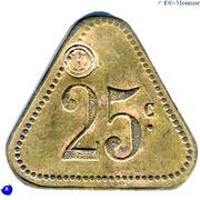 25 Centimes Compagnie Générale Française de Tramways  - Le Havre [76] – reverse